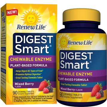 Renew Life Digest Smart Chewable Berry 90 tabs R59762