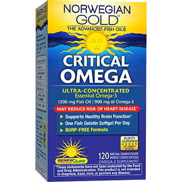 Renew Life Norwegian Gold Critical Omega 120 softgels R54057