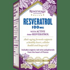 Reserveage Resveratrol 100mg 60 vegcaps R78615