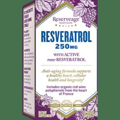 Reserveage Resveratrol 250mg 120 vegcaps R02815
