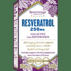 Reserveage Resveratrol 250mg 30 vegcaps R05588
