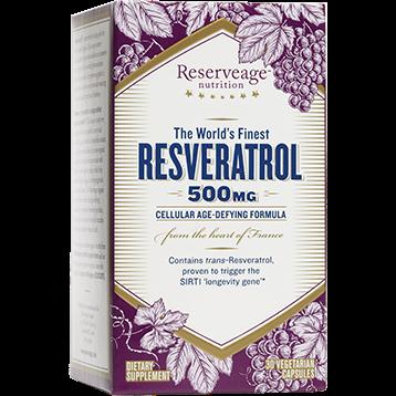 Reserveage Resveratrol 500mg 30 vegcaps R05571