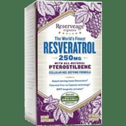 Reserveage Resveratrol w Ptero 250mg 60 vegcaps R61806