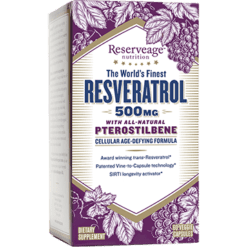 Reserveage Resveratrol w Ptero 500mg 60 veg caps R18342