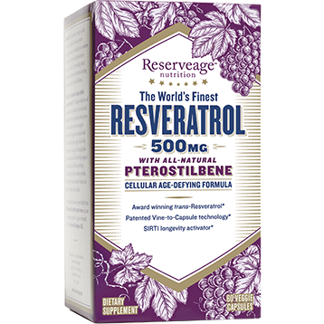 Resveratrol W Ptero 500mg 60 Veg Caps Reserveage
