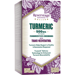Reserveage Turmeric w Resveratrol 60 vegcaps RE02976