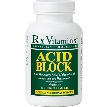 Rx Vitamins Acid Block 60 chewable tablets R04015