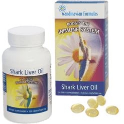 Scandinavian Formulas Shark Liver Oil 500 mg 120 gel capsules SHA12