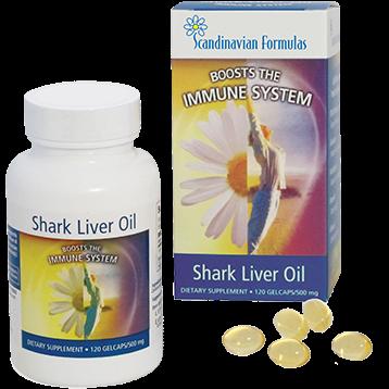 Scandinavian Formulas Shark Liver Oil 500 mg 120 gel capsules SHA12
