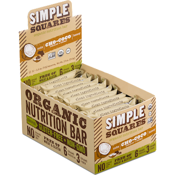 Simple Squares Cho Coco Protein Bars Organic 12 bars SS2150