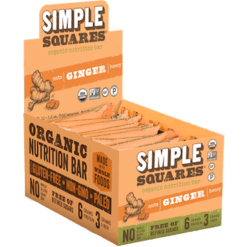 Simple Squares Ginger Protein Bars Organic 12 bars SS2112