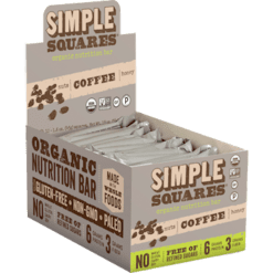 Simple Squares Mocha Coffee Protein Bars Org 12 bars SS2099