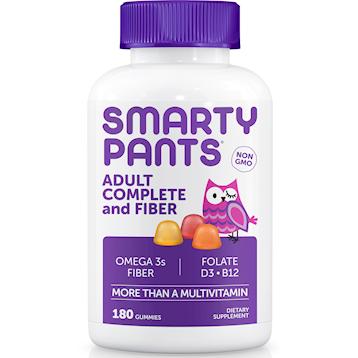 SmartyPants Vitamins Adult Complete amp Fiber 180 gummies S04088