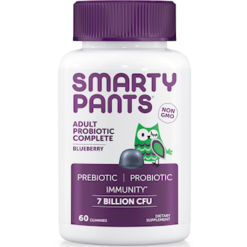 SmartyPants Vitamins Adult Probiotic Blueberry 60 gummies S20035