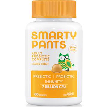 SmartyPants Vitamins Adult Probiotic Lemon Cregraveme 60 gummies S20097