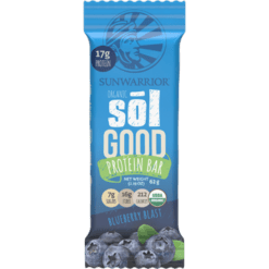 Sunwarrior Sol Good Protein Bar Blueberry 12 Bars S81263