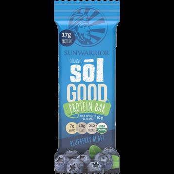 Sunwarrior Sol Good Protein Bar Blueberry 12 Bars S81263