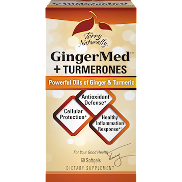 Terry Naturally GingerMedtradeTurmerones 60 Softgels T58860