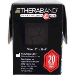 Theraband Kinesiology Tape Black Gray 20 strips T12750