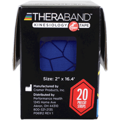 Theraband Kinesiology Tape Blue Blue 20 Strips T12753