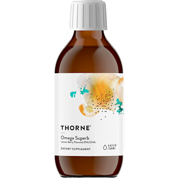 Thorne Research Omega Superb Lemon Berry EPA DHA 8.45 oz T04288