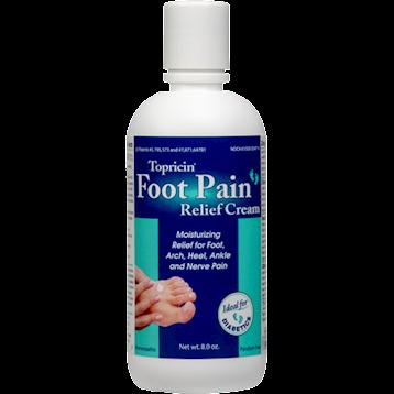 Topical Biomedics Topricin Foot Pain Relief Cream 8oz T10088