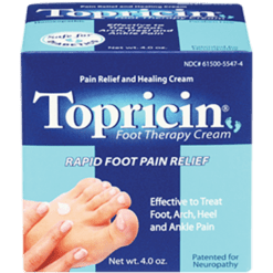 Topical Biomedics Topricin Foot Therapy Cream 4 oz TFT4