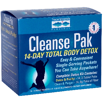 Trace Minerals Research Cleanse PAK 14 Day Total Body Detox Kit T03011