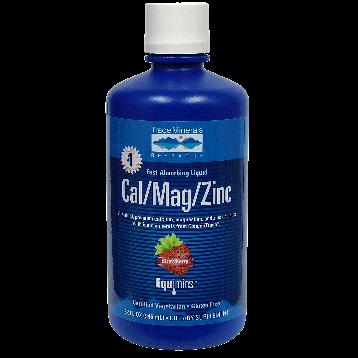 Trace Minerals Research Liquid Cal Mag Zinc Strawberry 32 oz T02304