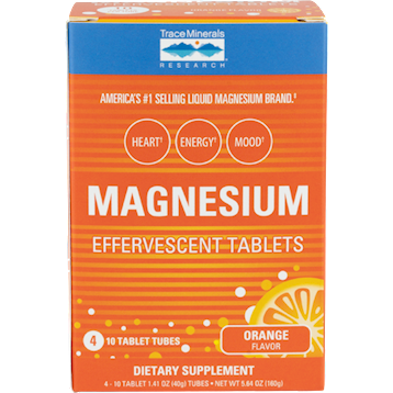 Trace Minerals Research Magnesium Effervescent Tablets 4 tubes T04278