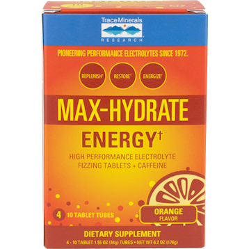Trace Minerals Research Max Hydrate Energy 4 tubes T04254