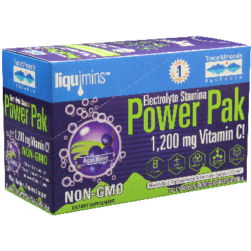 Trace Minerals Research Power Pak Non GMO Acai Berry 30 packets T02632