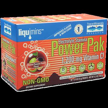 Trace Minerals Research Power Pak Non GMO Guava Passion 30 pks T03653