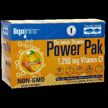 Trace Minerals Research Power Pak Orange Blast 30 packets T00539