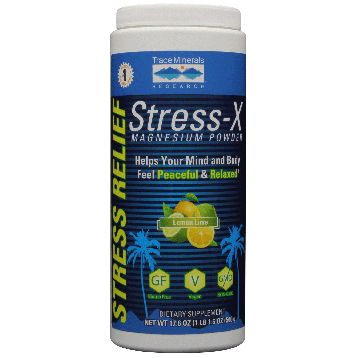Trace Minerals Research Stress X Magnesium Lemon Lime 17.6 oz T0229