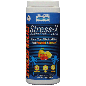 Trace Minerals Research Stress X Magnesium Rasp Lemon 8.5 oz T0352