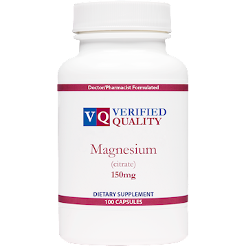Verified Quality Magnesium Citrate 150 mg 100 capsules MAG70