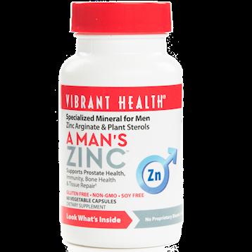 Vibrant Health A Man039s Zinc 60 vegcaps VB0244