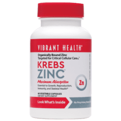 Vibrant Health Krebs Zinc 60 vegcaps VB0251