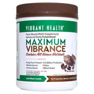 Vibrant Health Maximum Vibrance Chocolate 15 servings VB1500