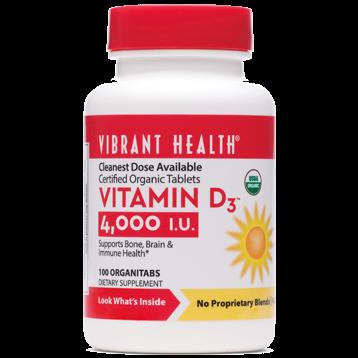 Vibrant Health Vitamin D 4000 IU 100 tabs VB0411