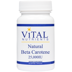 Vital Nutrients Natural Beta Carotene 25000 90 softgel BET10