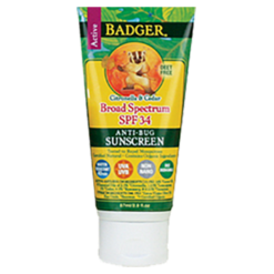 W.S. Badger Company Anti Bug Sunscreen Cream SPF 34 2.9 fl oz B73001