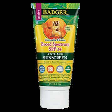 W.S. Badger Company Anti Bug Sunscreen Cream SPF 34 2.9 fl oz B73001