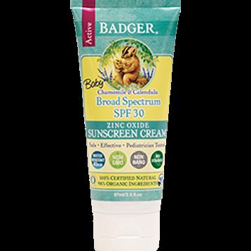 W.S. Badger Company Baby Sunscreen Cream SPF 30 2.9 oz B75005