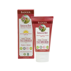 W.S. Badger Company Damascus Rose SPF 25 Face Sunscreen 1.6 fl oz B90404