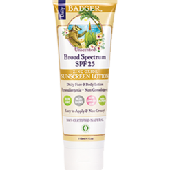 W.S. Badger Company Sunscreen Lotion Unscented SPF 25 4 oz B90305