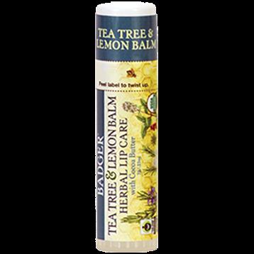 W.S. Badger Company Tea Tree amp Lemon CB Lip Balm.25oz B25016