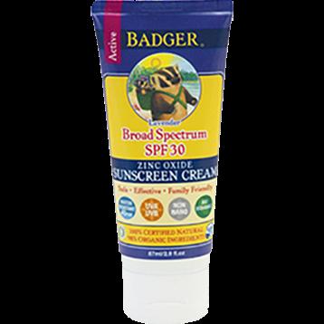 W.S. Badger Company Zinc Oxide Sunscreen Cream SPF 30 2.9 fl oz B70314