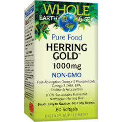 Whole Earth and Sea Herring Gold 1000mg 60 softgels W54972